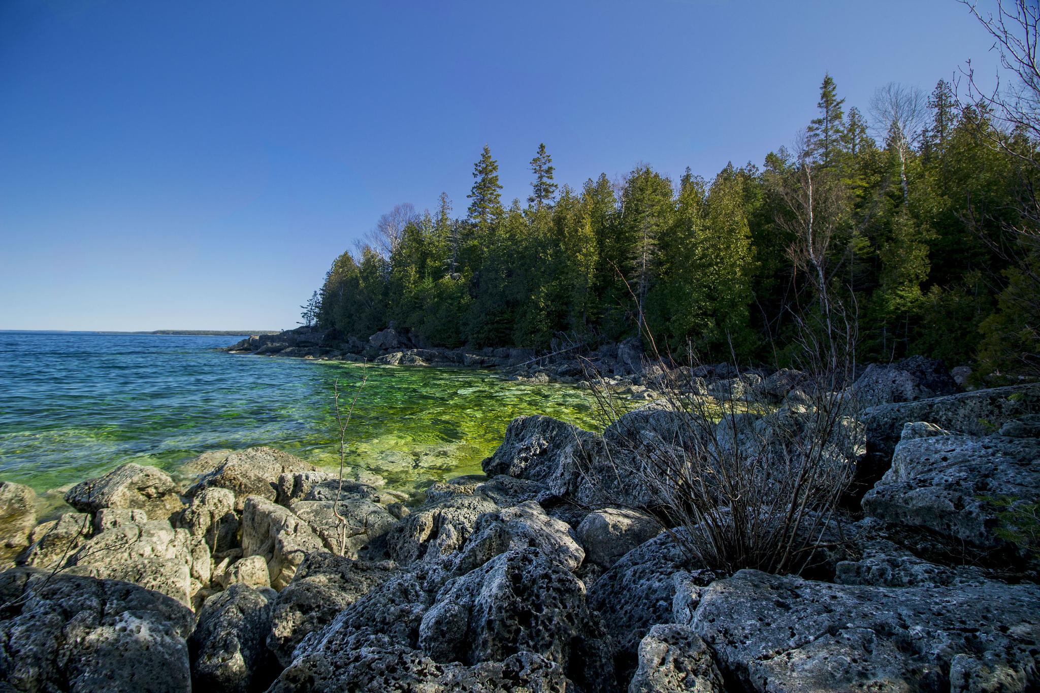 Parc marin de Fathom Five au Canada